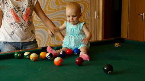 Teach Me To Play Billiards stock footage