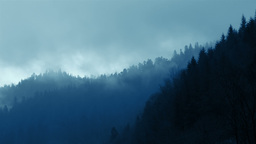 Clouds And Fog In The Forested Mountains stock footage