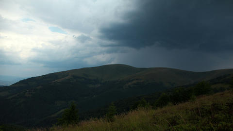 Time Lapse Of Rainclouds In Mountains stock footage