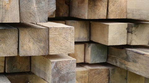 Wooden squared timbers Live Action