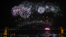 countdown to sydney nye fireworks 2014 4K Footage