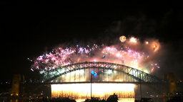 new years eve fire works sydney- 4K Live Action