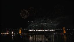 New Years Eve fireworks on Sydney Harbour Bridge at 60fps-4 Footage