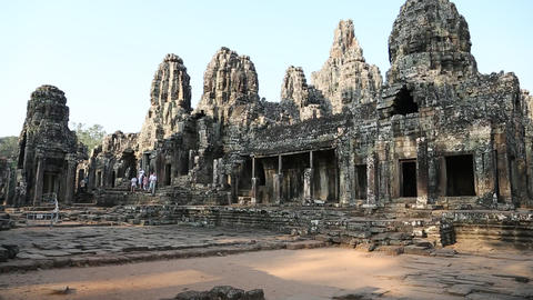 Angkor Thom temple complex, Cambodia Footage