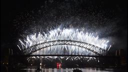 New Years Eve fireworks on Sydney Harbour Bridge at 60fps-7 Footage