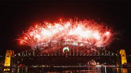 New Years Eve fireworks on Sydney Harbor Bridge 04 Live Action
