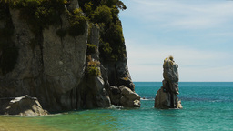 rock formation abel tasman national park Footage