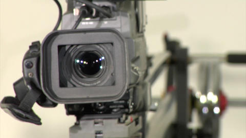 camcorder on crane Footage