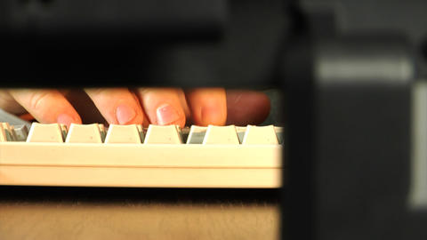 close-up typing Footage