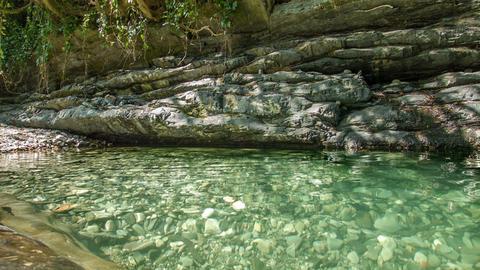 Rocks Lake 2 stock footage