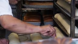 baking bread Footage