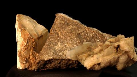 quartz and tiff crystals and basalt with quartz Footage