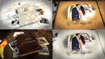 Album of memories and wedding book bundle After Effects Template