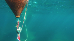 observing buoy under surface Footage