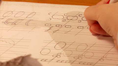 Primary Writing Tablet stock footage