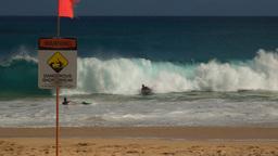dangerous sandy beach, hawaii Footage