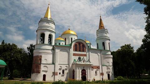 Saviour Transfiguration Cathedral, Chernigov, Ukraine Footage