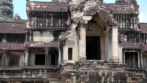 Angkor Wat temple in Cambodia Footage