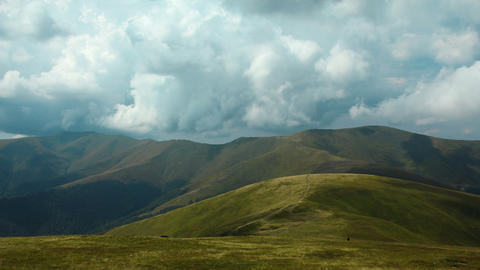 Timelapse of storm clouds in beautiful mountains Footage