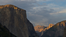 el capitan and half dome time lapse Footage