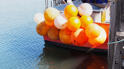 fishing boats buoys Footage
