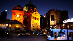 railway station melbourne Footage