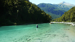 woman fly fishing new zealand Live Action