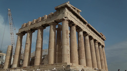Parthenon - Antique Temple In Athenian Acropolis In Greece stock footage