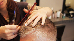 man's haircut close up Footage