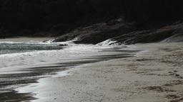 waves breaking on beach Footage