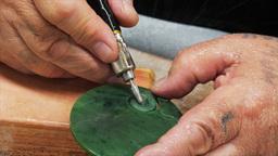 jade carving hokitika new zealand Footage