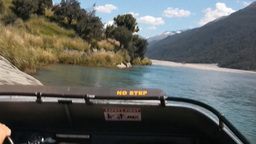 jet boat ride in New Zealand Live Action
