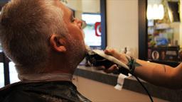 man's beard trimmed Footage