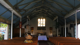Holy Innocents Church Maui Interior stock footage