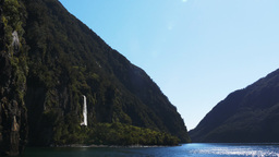 Bridal Veil Falls Milford Sound stock footage