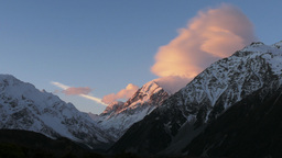 Mt Cook From Hermitage stock footage