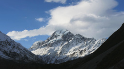 Mt Cook Close Up Time Lapse stock footage