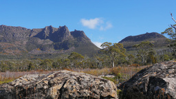 Mt Ossa Tasmania stock footage