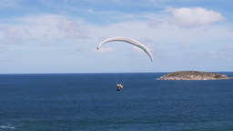 paragliding at the beach Footage
