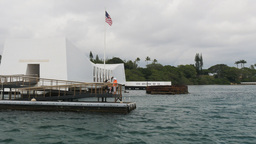 Pearl Harbor Memorial Close Up stock footage