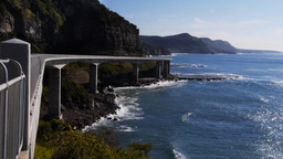 spectacular sea cliff bridge Footage