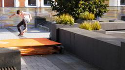 street skateboarder falls Footage