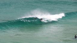 surfer in barrel Footage