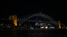 sydney harbour bridge at night Footage