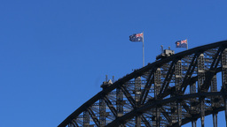 sydney harbour bridge close up Footage