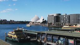 circular quay at sydney harbour time lapse Footage
