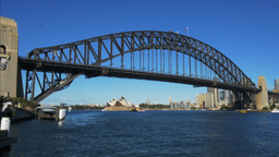 wide view of sydney harbour from luna park Footage