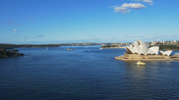 wide view of sydney harbour from the bridge Footage