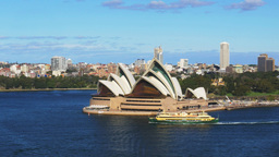 sydney opera house with the manly ferry Footage