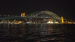 sydney harbour bridge vivid 2015 Footage